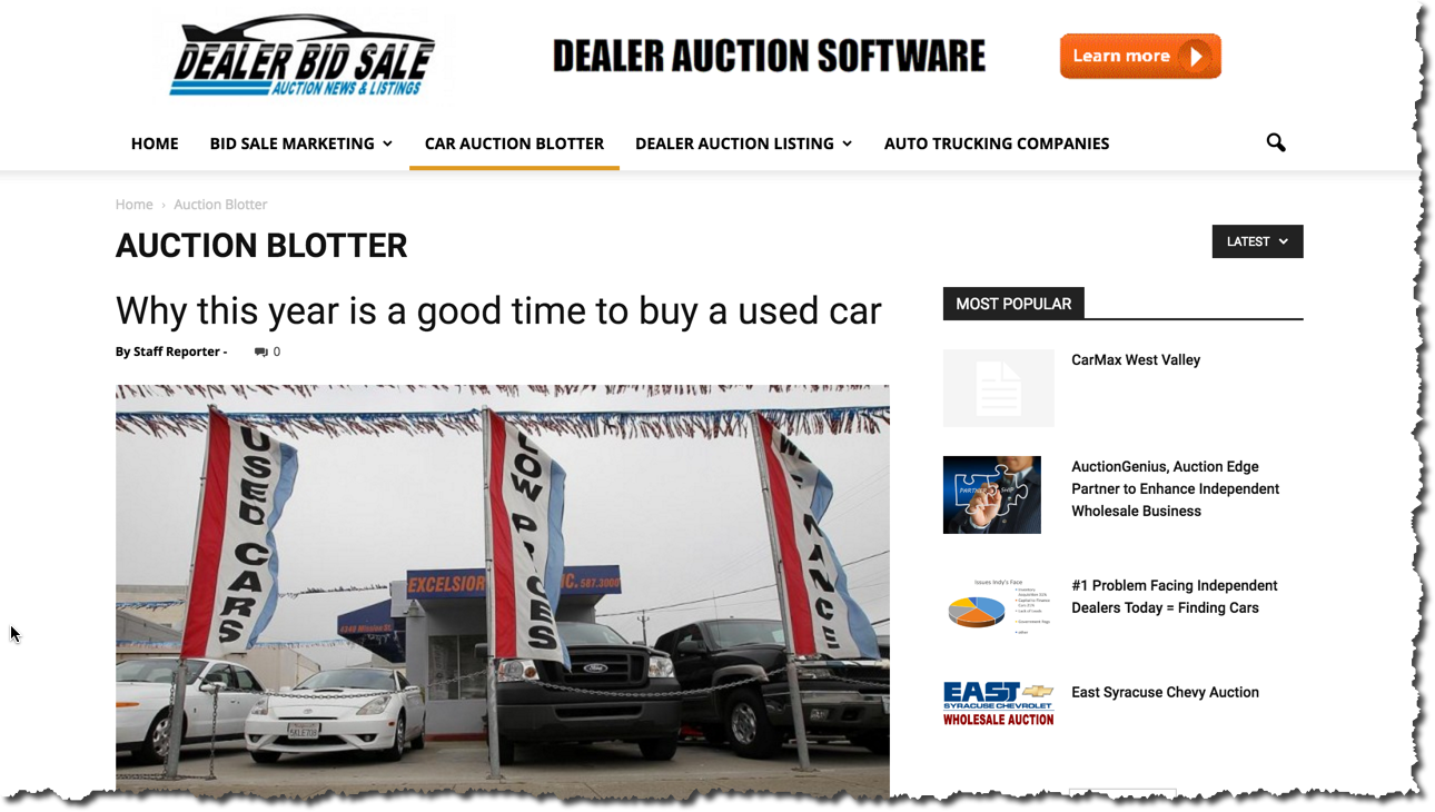 Dealers Holding their own Auction